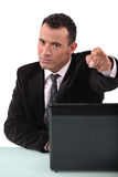 A businessman pointing Royalty Free Stock Photos