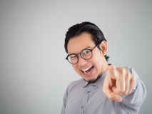 Businessman pointing at camera. Royalty Free Stock Photo