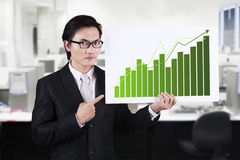 Businessman Pointing a Chart Royalty Free Stock Images