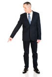 Businessman pointing down Royalty Free Stock Photography