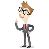 Businessman pointing and explaining Royalty Free Stock Images