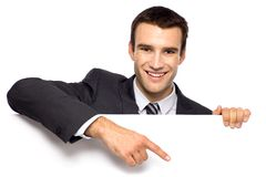 Businessman pointing finger Royalty Free Stock Photo