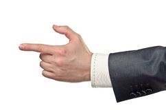 Businessman pointing finger Royalty Free Stock Photography