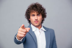 Businessman pointing finger at camera Royalty Free Stock Photo