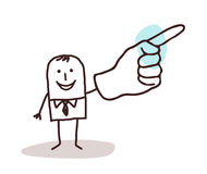 Businessman pointing finger up Royalty Free Stock Images