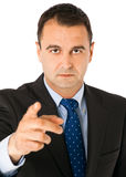 Businessman pointing forward Royalty Free Stock Images