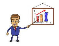 Businessman pointing at graph Royalty Free Stock Image