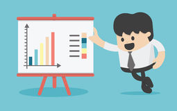 Businessman pointing at graph Royalty Free Stock Images