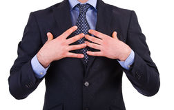 Businessman pointing at himself. Stock Images