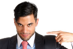 Businessman pointing at himself Royalty Free Stock Photo