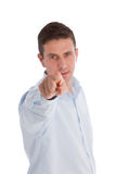 Businessman Pointing his Finger at the Camera Stock Image