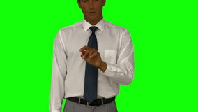 Businessman pointing with his finger stock video