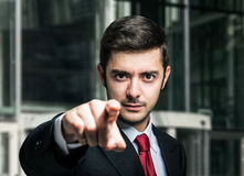 Businessman pointing his finger to you Royalty Free Stock Photo