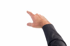Businessman pointing with his finger Royalty Free Stock Photos