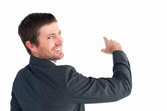Businessman pointing with his finger Stock Photography