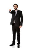 Businessman pointing his finger on you. Royalty Free Stock Images