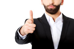 Businessman pointing his finger on you. Royalty Free Stock Photos