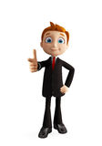 Businessman with pointing pose Royalty Free Stock Photo