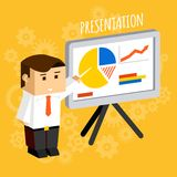 Businessman pointing at presentation board Stock Photography