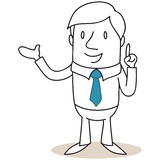 Businessman pointing and presenting Royalty Free Stock Images