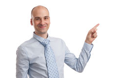 Businessman pointing at something Stock Images