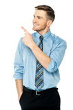 Businessman pointing at something Royalty Free Stock Photo