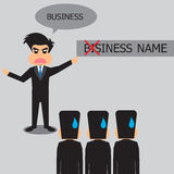 Businessman Pointing At Something Wrong. Stock Photo