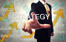 Businessman pointing STRATEGY Stock Images