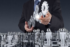 Businessman  pointing to investment concept Stock Photos