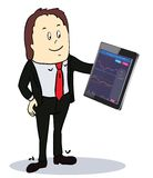Businessman pointing to the screen of a tablet-pc Royalty Free Stock Image