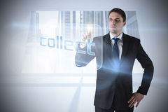 Businessman pointing to word collect Royalty Free Stock Photo