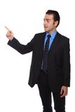Businessman pointing up Royalty Free Stock Photography