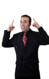 Businessman Pointing Up Royalty Free Stock Image