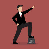 Businessman pointing up Royalty Free Stock Images