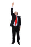 Businessman pointing upwards Royalty Free Stock Photography