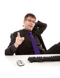 Businessman is pointing at you Royalty Free Stock Photos