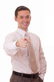 Businessman pointing at you Royalty Free Stock Images
