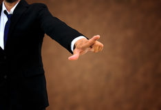 Businessman pointing at you Royalty Free Stock Image