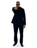 Businessman pointing at you. Full-length portrait Royalty Free Stock Photography