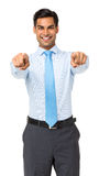 Businessman Pointing At You Stock Photos