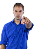 Businessman Pointing at You Stock Photography