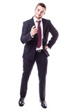 Businessman pointing at you Royalty Free Stock Photo