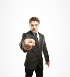 Businessman points Stock Photo