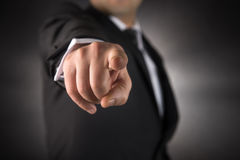Businessman points his finger at you Stock Photography