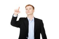 Businessman points something  Stock Photo