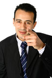 Businessman points towards viewer Stock Photo