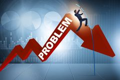 The businessman pole vaulting over problems in business concept Royalty Free Stock Photography