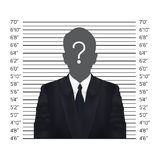 Businessman in police lineup backdrop, illustration,  Royalty Free Stock Photo
