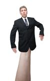 Businessman or Politican Hand Puppet Isolated Royalty Free Stock Photos