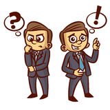 Businessman Ponder Question Idea vector illustration